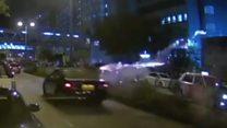 Fireworks attack injures Hong Kong protesters