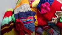 The knitted sleeves helping patients with dementia
