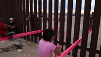 Urubibe rutandukanya Leta za Amerika na Mexico rwabaye nk'ikiraro