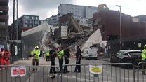 Video shows Reading scaffolding collapse scene