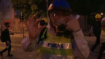 BBC reporter 'hit in the face' during HK protest