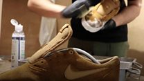 Eco-friendly trainer cleaner saves stinky sneakers