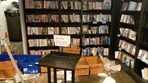 Thousands of books damaged as rain floods shop
