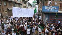 کشمیرمیں انڈیا مخالف مظاہرے