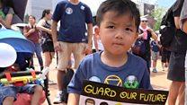 'Hong Kong not suitable for children'