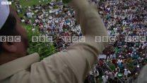 BBC EXCLUSIVE వీడియో: శ్రీనగర్లో నిరసనలు