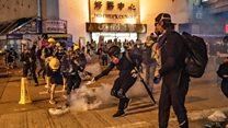 Police fire tear gas into HK railway station