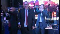 Conservative celebrates Guatemala poll victory