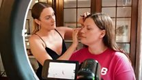 Visually impaired people given make-up masterclass