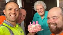 Binman's birthday surprise for 100-year-old customer