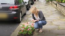 The woman who planted a garden in a pavement