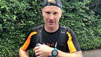 The golfer running 31 marathons in 31 days