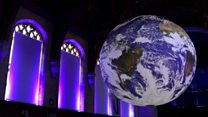 Giant earth model opens to the public
