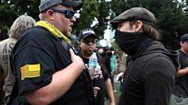 Rival protests in Portland, Oregon