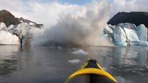 'Sobrevivemos': colapso de geleira surpreende praticantes de caiaque no Alasca