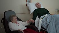 Elderly couple reunite for final time