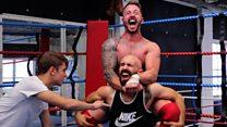 The wrestling postman delivering a smackdown