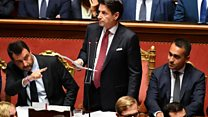 Italy PM attacks Salvini in resignation speech
