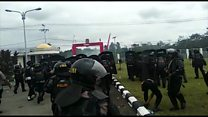Indonesia police fire tear gas amid Papua protests