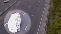 Runaway trailer crashes on motorway