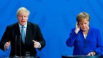Johnson and Merkel meet amid call to scrap backstop