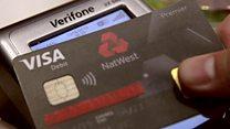 Testing the debit card with a fingerprint sensor
