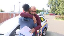 Hit-and-run father opens son's GCSE results