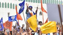 संत रविदास का मंदिर बनाने दिल्ली में आए हज़ारों दलित