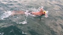 Teenagers brave Channel relay swim