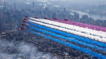 Flying with the Red Arrows over New York