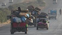 Exodus grows as fighting rages in north-west Syria