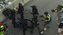 Tear gas used at Hong Kong protests