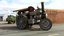 Old steam engine Talisman unveiled