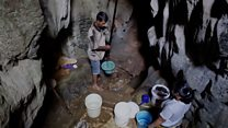 The village surviving a drought on cave water