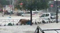 Flash floods and hail hit Spain