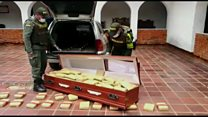 Colombia police seize 300kg of cannabis in coffin