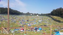 What happens to the leftover tents at Leeds Festival?