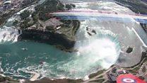 Red Arrows soar above Niagara Falls