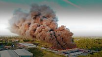 Huge fire engulfs trailers at Whirlpool HQ