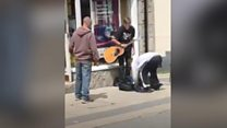 Pair jailed for stealing from blind busker