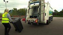 Bin lorry powered by waste