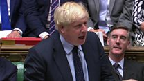 Johnson reacts to losing key Brexit vote