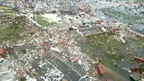 Aerials reveal Dorian destruction