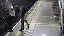 Man punched and shoved on to Tube track