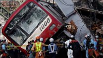 Driver killed and dozens injured in Japan train crash