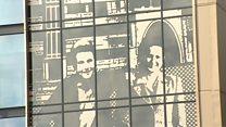 Giant mural honours flats residents