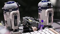 Lego droid orchestra performs Star Wars