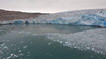100미터가 녹아버린 그린란드의 빙하