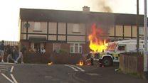 Angry scenes in Londonderry's Creggan estate