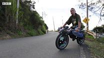 دراجات الانحدار: هواية خطرة تمارس في كولومبيا